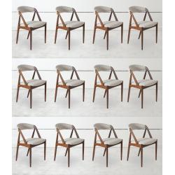 Chaise scandinave en teck massif x12