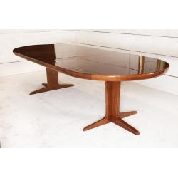 Solid teak extendable Scandinavian table