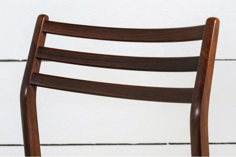 6 Solid rosewood Scandinavian chairs