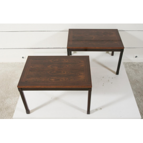 Pair of solid rosewood coffee tables...
