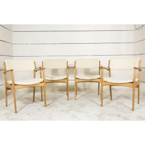 4 Light oak Scandinavian chairs