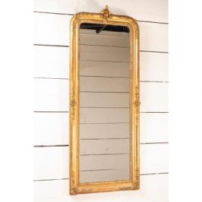 Miroir en bois doré H.173 cm x L.68 cm