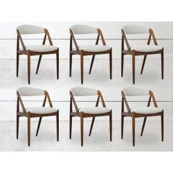 6 Solid teak Scandinavian chairs by...